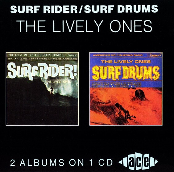 The Lively Ones - Surf Rider / Surf Drums 1990 (USA, Surf)