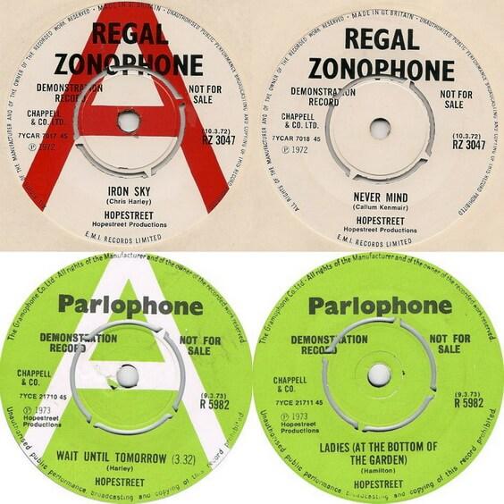 Hopestreet - Singles 1972-73 (UK, Pop Rock)